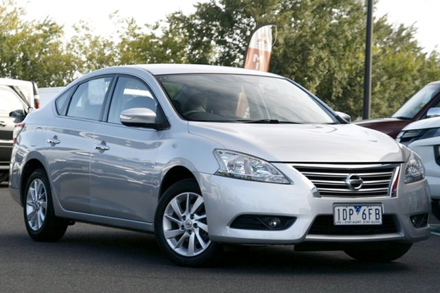Used Nissan Pulsar B17 ST-L Essendon North, 2013 Nissan Pulsar B17 ST-L Silver 1 Speed Constant Variable Sedan