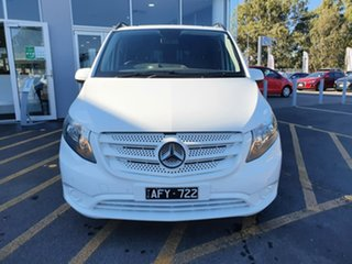 2015 Mercedes-Benz Vito 447 119BlueTEC Crew Cab 7G-Tronic + White 7 Speed Sports Automatic Van.