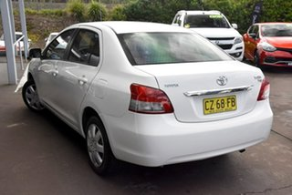 2007 Toyota Yaris NCP93R YRS White 4 Speed Automatic Sedan.