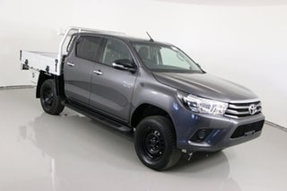 2017 Toyota Hilux GUN126R MY17 SR (4x4) Graphite 6 Speed Automatic Dual Cab Chassis