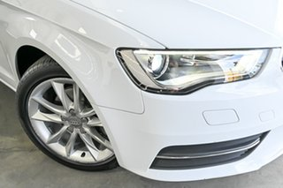 2013 Audi A3 8V Attraction Sportback S Tronic White 7 Speed Sports Automatic Dual Clutch Hatchback.
