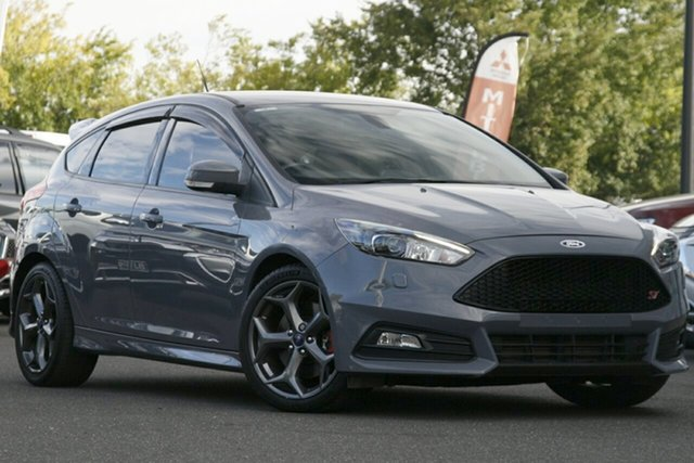 Used Ford Focus LZ ST Essendon North, 2015 Ford Focus LZ ST Stealth 6 Speed Manual Hatchback