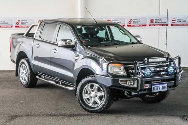 Pre-Owned Ford Ranger PX XLT 3.2 (4x4) Rockingham, 2013 Ford Ranger PX XLT 3.2 (4x4) Grey 6 Speed Automatic Double Cab Pick Up