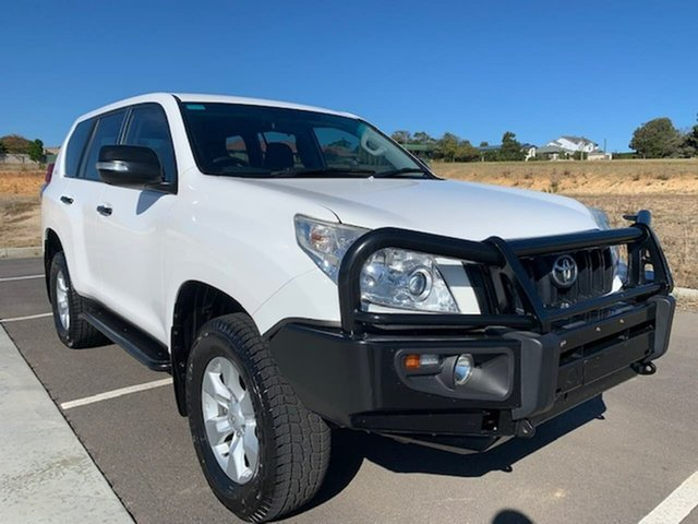 Used Toyota Landcruiser Prado KDJ150R GX Victor Harbor, 2012 Toyota Landcruiser Prado KDJ150R GX White 6 Speed Manual Wagon