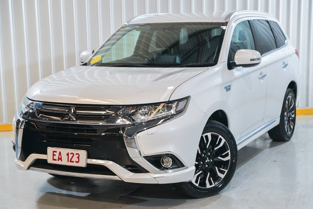 Used Mitsubishi Outlander ZK MY17 PHEV AWD LS Hendra, 2017 Mitsubishi Outlander ZK MY17 PHEV AWD LS White 1 Speed Automatic Wagon Hybrid