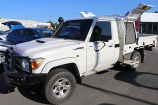 2019 Toyota Landcruiser VDJ79R GXL White 5 Speed Manual Cab Chassis.