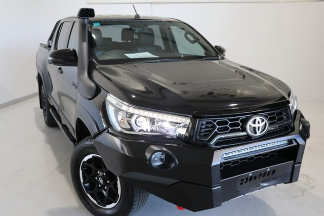Used Toyota Hilux GUN126R Rugged X Double Cab Wagga Wagga, 2018 Toyota Hilux GUN126R Rugged X Double Cab Black 6 Speed Sports Automatic Utility