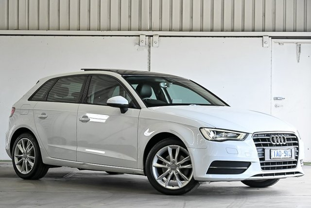 Used Audi A3 8V Attraction Sportback S Tronic Laverton North, 2013 Audi A3 8V Attraction Sportback S Tronic White 7 Speed Sports Automatic Dual Clutch Hatchback