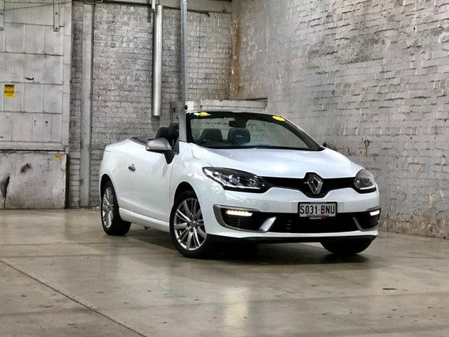 Used Renault Megane III E95 Phase 2 GT-Line Cpe Cabrio Mile End South, 2015 Renault Megane III E95 Phase 2 GT-Line Cpe Cabrio White 6 Speed Constant Variable Convertible