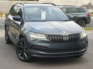 2020 Skoda Karoq NU MY21 140TSI DSG AWD Sportline Grey 7 Speed Sports Automatic Dual Clutch Wagon.