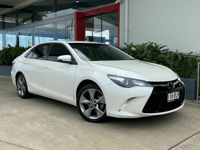 Used Toyota Camry Beaudesert, 2016 Toyota Camry White 6 Speed 6 SP Semi Auto Sedan