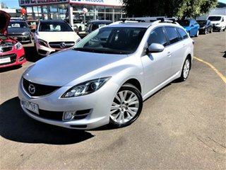 2008 Mazda 6 GH1051 Classic Silver 5 Speed Sports Automatic Wagon.