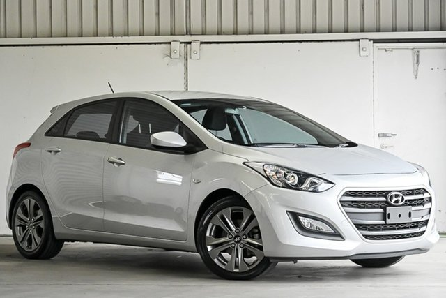 Used Hyundai i30 GD3 Series II MY16 Active Laverton North, 2015 Hyundai i30 GD3 Series II MY16 Active Silver 6 Speed Sports Automatic Hatchback