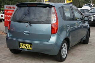 2007 Mitsubishi Colt RG MY07 ES Blue 1 Speed Constant Variable Hatchback
