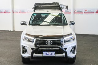 2018 Toyota Hilux GUN126R SR5 Double Cab Crystal Pearl 6 Speed Sports Automatic Utility.