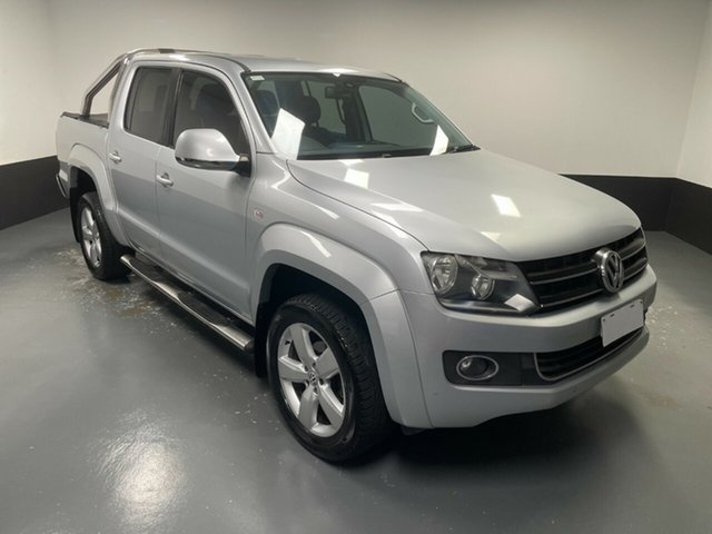 Used Volkswagen Amarok 2H MY14 TDI420 4Motion Perm Highline Cardiff, 2013 Volkswagen Amarok 2H MY14 TDI420 4Motion Perm Highline Reflex Silver 8 Speed Automatic Utility