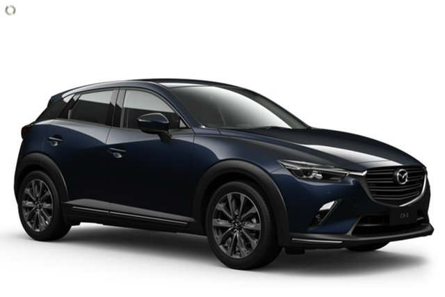 New Mazda CX-3 DK2W7A sTouring SKYACTIV-Drive FWD Waitara, 2021 Mazda CX-3 DK2W7A sTouring SKYACTIV-Drive FWD Blue 6 Speed Sports Automatic Wagon