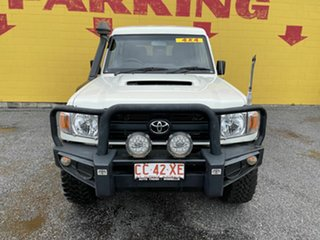 2016 Toyota Landcruiser VDJ78R Workmate Troopcarrier White 5 Speed Manual Wagon.