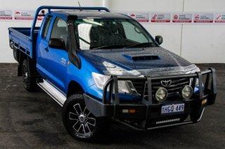 2012 Toyota Hilux KUN26R MY12 SR (4x4) Tidal Blue 5 Speed Manual X Cab Cab Chassis.