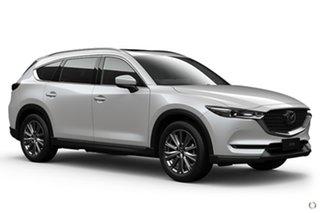 2021 Mazda CX-8 KG4W2A Asaki SKYACTIV-Drive i-ACTIV AWD White 6 Speed Sports Automatic Wagon