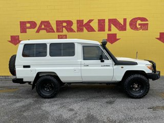 2016 Toyota Landcruiser VDJ78R Workmate Troopcarrier White 5 Speed Manual Wagon