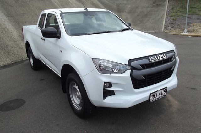 Used Isuzu D-MAX RG MY21 SX Space Cab 4x2 High Ride South Gladstone, 2020 Isuzu D-MAX RG MY21 SX Space Cab 4x2 High Ride White 6 Speed Sports Automatic Utility