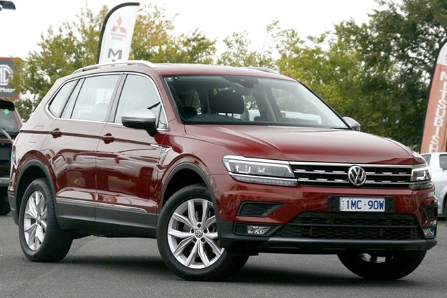 Used Volkswagen Tiguan 5N MY18 132TSI Comfortline DSG 4MOTION Allspace Essendon North, 2018 Volkswagen Tiguan 5N MY18 132TSI Comfortline DSG 4MOTION Allspace Red 7 Speed