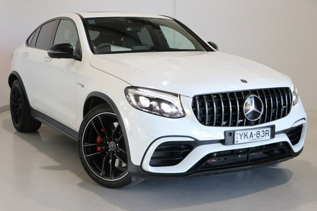 Used Mercedes-Benz GLC-Class C253 809MY GLC63 AMG Coupe SPEEDSHIFT MCT 4MATIC+ S Wagga Wagga, 2019 Mercedes-Benz GLC-Class C253 809MY GLC63 AMG Coupe SPEEDSHIFT MCT 4MATIC+ S White 9 Speed