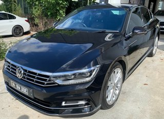 2017 Volkswagen Passat 3C (B8) MY17 206TSI DSG 4MOTION R-Line Black 6 Speed.
