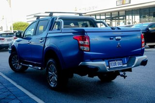 2015 Mitsubishi Triton MQ MY16 GLS Double Cab Blue 5 Speed Sports Automatic Utility.