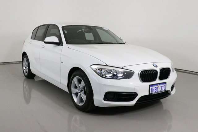 Used BMW 118i F20 LCI Sport Line Bentley, 2016 BMW 118i F20 LCI Sport Line White 8 Speed Automatic Hatchback