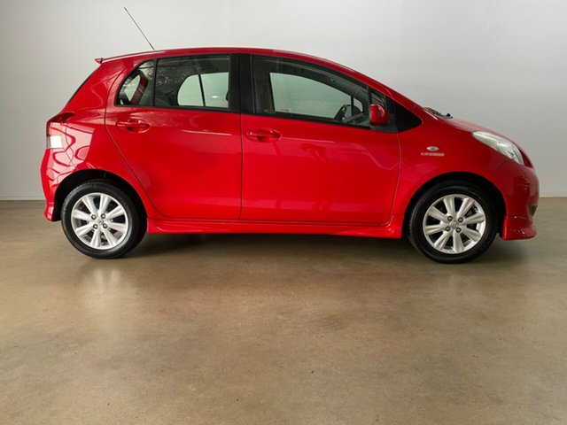 Used Toyota Yaris NCP91R 08 Upgrade YRX Phillip, 2010 Toyota Yaris NCP91R 08 Upgrade YRX Red 5 Speed Manual Hatchback
