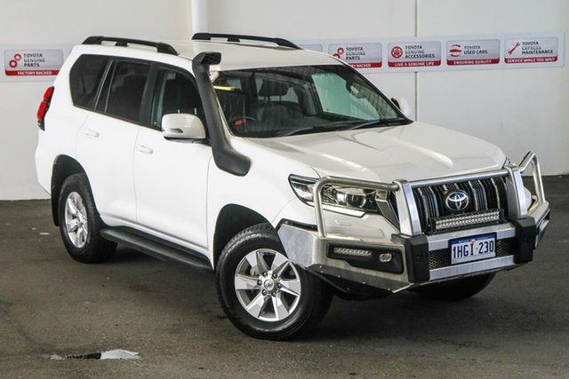 Pre-Owned Toyota Landcruiser Prado GDJ150R GXL Rockingham, 2019 Toyota Landcruiser Prado GDJ150R GXL Glacier White 6 Speed Sports Automatic Wagon