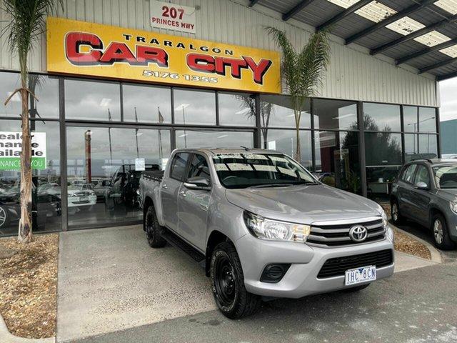 Used Toyota Hilux GUN126R SR (4x4) Traralgon, 2016 Toyota Hilux GUN126R SR (4x4) Grey 6 Speed Automatic Dual Cab Utility