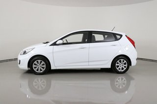 2017 Hyundai Accent RB4 MY17 Active White 6 Speed CVT Auto Sequential Hatchback