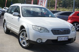 2007 Subaru Outback B4A MY07 D/Range AWD White 5 Speed Manual Wagon.