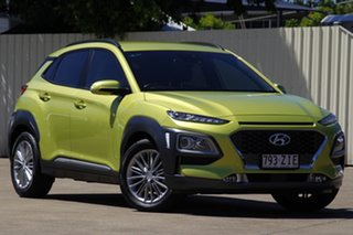 2019 Hyundai Kona OS.3 MY20 Elite 2WD Acid Yellow 6 Speed Sports Automatic Wagon.