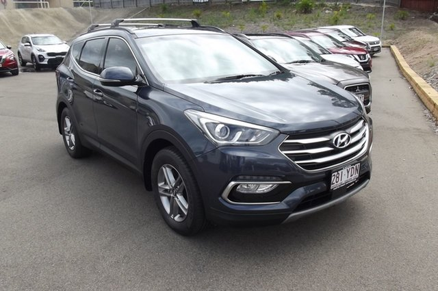 Used Hyundai Santa Fe DM5 MY18 Active South Gladstone, 2018 Hyundai Santa Fe DM5 MY18 Active Blue 6 Speed Sports Automatic Wagon