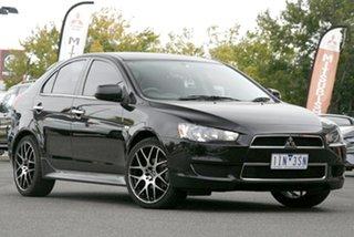 2013 Mitsubishi Lancer CJ MY13 LX Sportback Black 5 Speed Manual Hatchback.