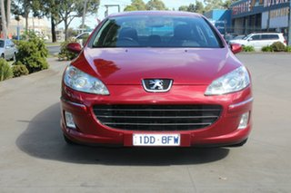 2006 Peugeot 407 MY06 Upgrade SV HDi Burgundy 6 Speed Tiptronic Coupe.