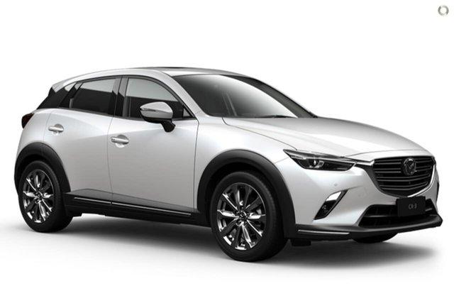 New Mazda CX-3 DK2W7A Akari SKYACTIV-Drive FWD LE Waitara, 2021 Mazda CX-3 DK2W7A Akari SKYACTIV-Drive FWD LE White 6 Speed Sports Automatic Wagon
