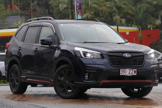 Demo Subaru Forester S5 MY21 2.5i Sport CVT AWD Newstead, 2020 Subaru Forester S5 MY21 2.5i Sport CVT AWD Dark Blue 7 Speed Constant Variable Wagon