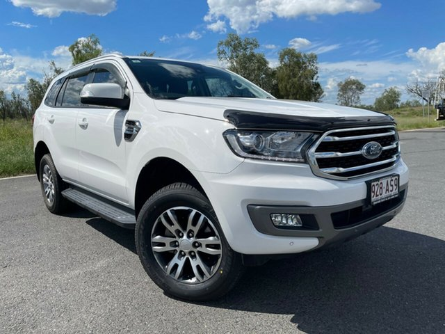Used Ford Everest UA II 2019.00MY Trend Emerald, 2018 Ford Everest UA II 2019.00MY Trend Arctic White 10 Speed Sports Automatic SUV
