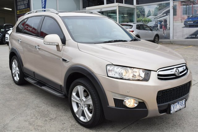 Used Holden Captiva CG MY13 7 AWD LX Ferntree Gully, 2013 Holden Captiva CG MY13 7 AWD LX Gold 6 Speed Sports Automatic Wagon