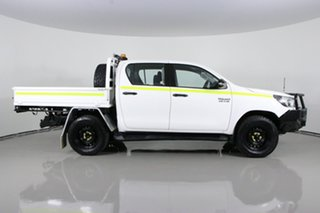 2018 Toyota Hilux GUN126R MY17 SR (4x4) White 6 Speed Automatic Dual Cab Chassis