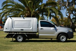 2013 Toyota Hilux TGN16R MY12 Workmate 4x2 Silver 5 Speed Manual Cab Chassis