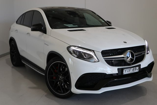 Used Mercedes-Benz GLE-Class C292 MY809 GLE63 AMG Coupe SPEEDSHIFT PLUS 4MATIC S Wagga Wagga, 2018 Mercedes-Benz GLE-Class C292 MY809 GLE63 AMG Coupe SPEEDSHIFT PLUS 4MATIC S White 7 Speed