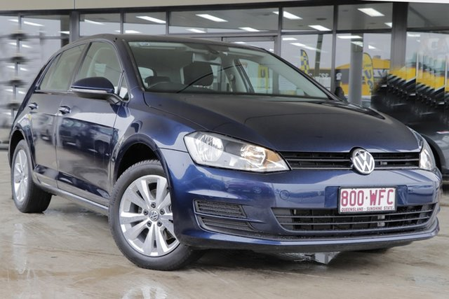 Used Volkswagen Golf VII MY14 90TSI DSG Comfortline Rocklea, 2013 Volkswagen Golf VII MY14 90TSI DSG Comfortline Night Blue 7 Speed Sports Automatic Dual Clutch