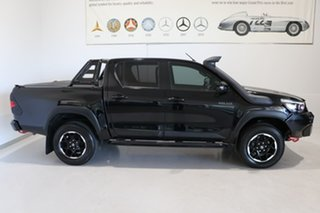 2018 Toyota Hilux GUN126R Rugged X Double Cab Black 6 Speed Sports Automatic Utility.