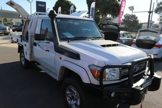 2019 Toyota Landcruiser VDJ79R GXL White 5 Speed Manual Cab Chassis